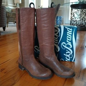 Lucky Brand Leather Knee High Boots